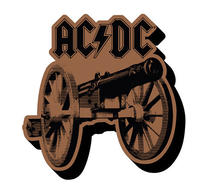 AC/DC For Those About To Rock Cannon Cut Out Magnet