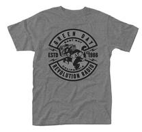 Green Day Cat Crest Grey TS