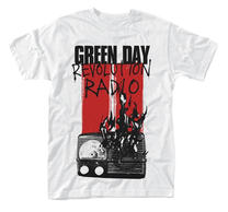 Green Day Radio Combustion White TS