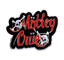 Motley Crue Logo Skulls Big Cut Out Patch