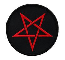 Pentagram Black & Red Circular Patch