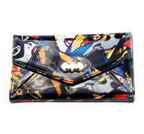Batman Batgirl Metal Logo Patch Envelop Wallet