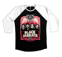 Black Sabbath Red Flames Baseball LS