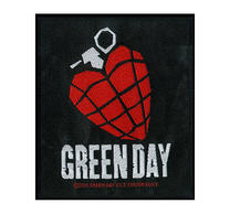 Green Day Heart Grenade Patch