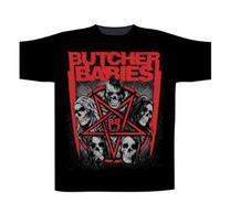Butcher Babies Star Skull TS