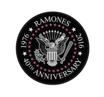 Ramones 40th Anniversary Circular Patch