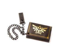 Nintendo Zelda Gold Trifold Chain Wallet