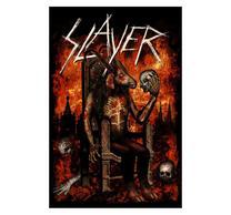 Slayer Devil On Throne Flag